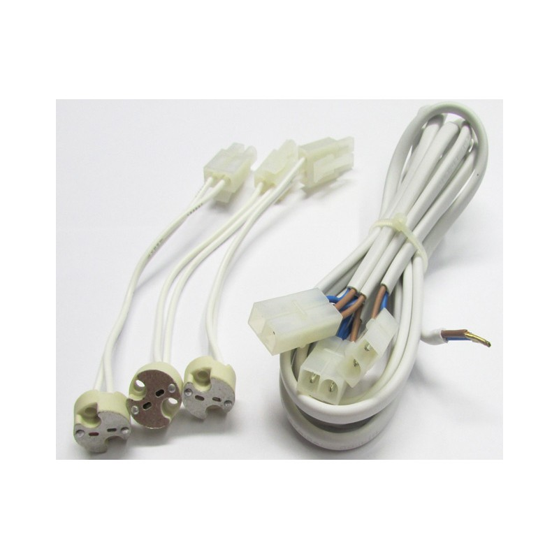 paulmann 3er set trafokabel gu5 3 kabel einbauleuchten led halogen 2. Black Bedroom Furniture Sets. Home Design Ideas