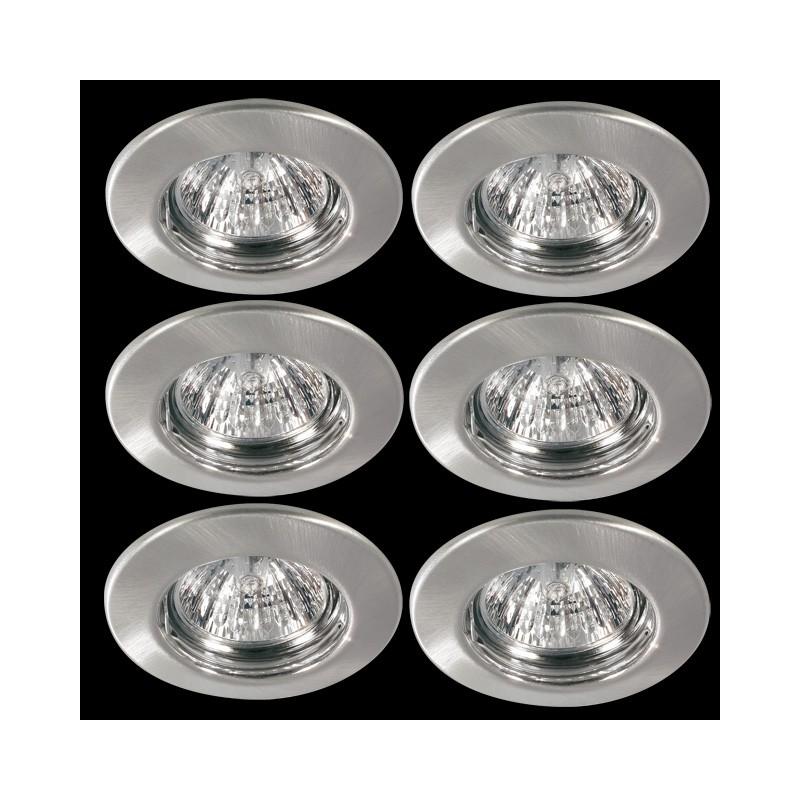 paulmann quality line einbauleuchten halogen set 6x35w halogen. Black Bedroom Furniture Sets. Home Design Ideas