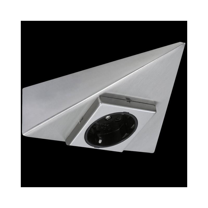 Paulmann micro line mobelsteckdose dreieckig kuche steckdos for Küche lieferzeit