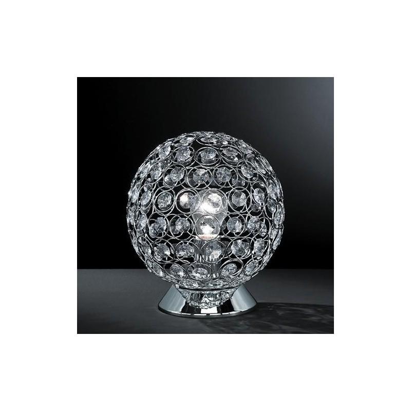 wofi tischleuchte holly chrom kristall glas lampe tischlampe tisch la. Black Bedroom Furniture Sets. Home Design Ideas