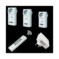 HOME EASY Funk Steckdosen Set 2 x Schalter 1 x Dimmer 1 x...