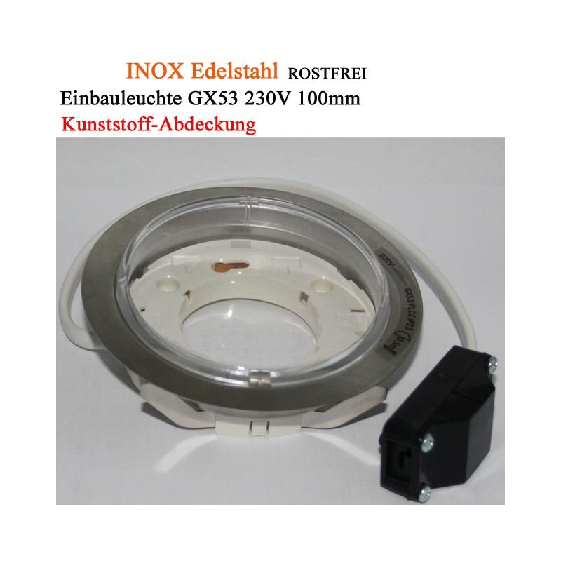 Einbauleuchte GX53 Einbaurahmen Aussenleuchte Feuchtraum rostfrei 230