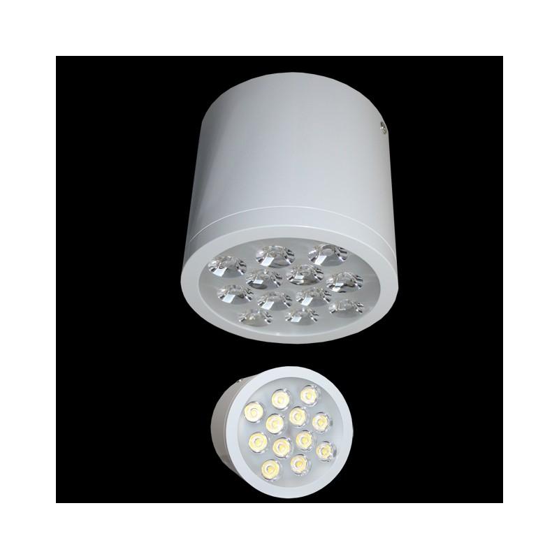 foco mac 12w led aufbauleuchte unterbauleuchte 1100 lumen deckenleuch. Black Bedroom Furniture Sets. Home Design Ideas