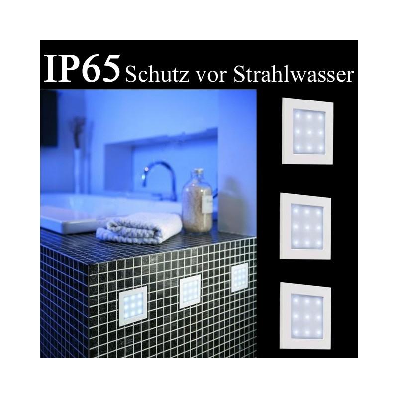 Massive by Philips 59923-31-10 Badezimmer LED Einbauleuchten 3er Set