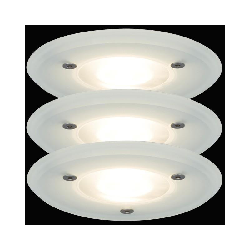 Paulmann GLAS SATIN Einbauleuchten Feuchtraumlampen Badezimmer Strahl