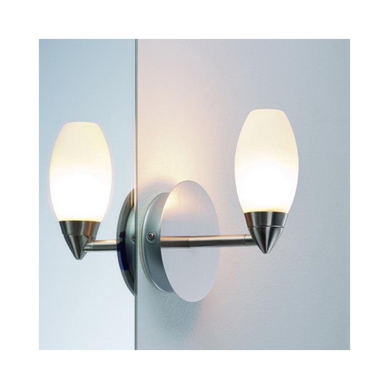Spiegelleuchte Glas SATIN 703.52 CARINA Wandleuchte Spiegellampe Wand