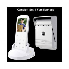 funk video t rsprechanlage kamera telefon einfamilienhaus gegensprech 149 99. Black Bedroom Furniture Sets. Home Design Ideas
