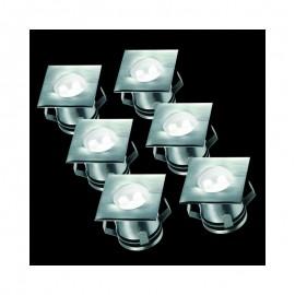 Gut gemocht LED Bodeneinbaustrahler für Außen 6er-Set befahrbar, bis zu 1.250 XJ35