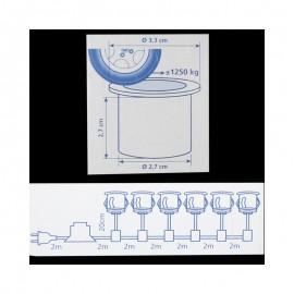 Turbo LED Bodeneinbaustrahler für Außen 6er-Set befahrbar, bis zu 1.250 EB89