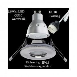 LED Einbauleuchten IP65 Außenbereich Feuchtraum Dusche Badezimmer ...