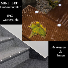 PaulmannI Profi Line Mini LED IP67  Boden Einbauleuchten BASIS-5er Set 988.91 - 98891