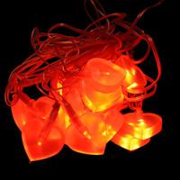 Hartig + Helling 98077 Deko LED Lichterkette 5m Herz Rot,...
