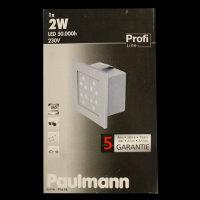 Paulmann 994.98 Profi Line 230V 1x2W LED Wandeinbauleuchte Wall 99498