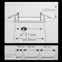 Paulmann Feuchtraum mini Einbauleuchten 3x35W CHROM Spots Strahler 993.16 - 99316