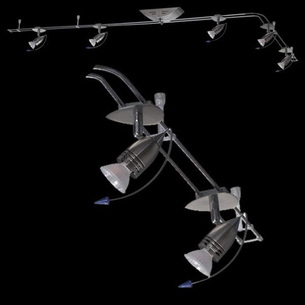 Schienensystem Halogen 5er Spot Deckenlampe 5x20W Deckenleuchte Lampe Strahler 974.82