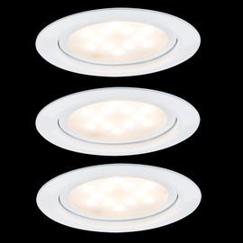 Paulmann Möbeleinbauleuchten-Set Micro Line LED, Weiß, 3x4,5W,  935.54 - 93554