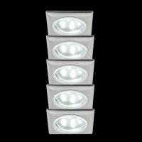 3292 Mini LED Einbauleuchten 5x0,5W Eisen gebürstet...