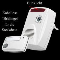 CDB-6500AC Kabelloser Funkgong mit Blinklicht , 433,92...