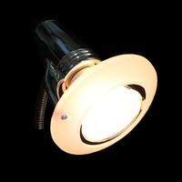 Flex Steckdosenleuchte CHROM Lampe Steckdosenspot