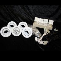 Retro Kugellampen Einbauleuchten Set 5x20W MINIBALL dreh-...