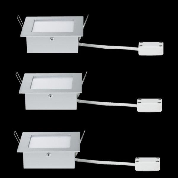 Paulmann 937.58 LED Wandlampe Einbauleuchten Set Areal 3x2W 93758