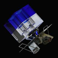 3er-Set Kristall Einbauleuchten blau Glas Einbaustrahler...