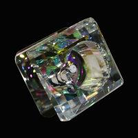 3er-Set Kristall Einbauleuchten Bunt Glas Einbaustrahler...