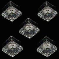 5er-Set Einbauleuchten Kristall Bunt Glas Einbaustrahler...