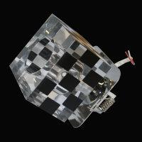 3er-Set Würfel Einbauleuchten Glas Einbaustrahler...
