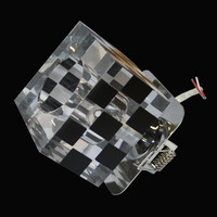 Einbauleuchten 5er-Set Würfel Glas Einbaustrahler...