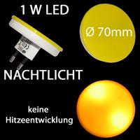 1W LED Nachtlicht Notlicht Positionslicht GELB...