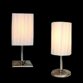 Tischlampe weiss Plissee Tischleuchte Lampe Schlafzimmer Nachttischlampe Leselampe