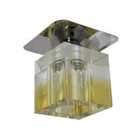 Kristall Spot Einbaustrahler Crystal Einbauleuchten Deckenleuchte KLAR-GELB Glas  G4 12V