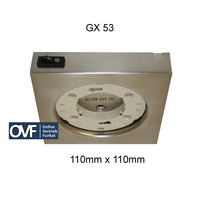 GX 53 Aufbauleuchte 110mm Küchenschrank 230V...