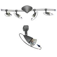 Schienensystem Halogen 4er Spot Deckenlampe 4x20W...