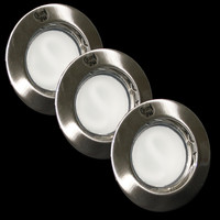 LED ALU Einbauleuchten Set 3x5,5W 230V  geringe...