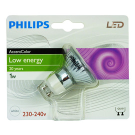 Philips GU10 1W AccentColor white Deco LED Birne Reflektor Licht