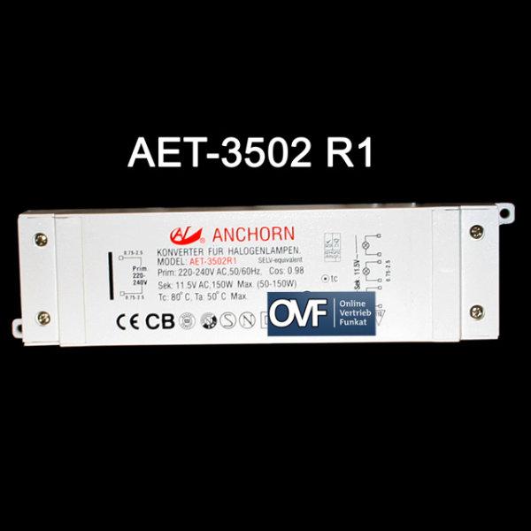 ANCHORN AET-3502R1 Niedervolt Halogen Trafo150W Transformator dimmbar