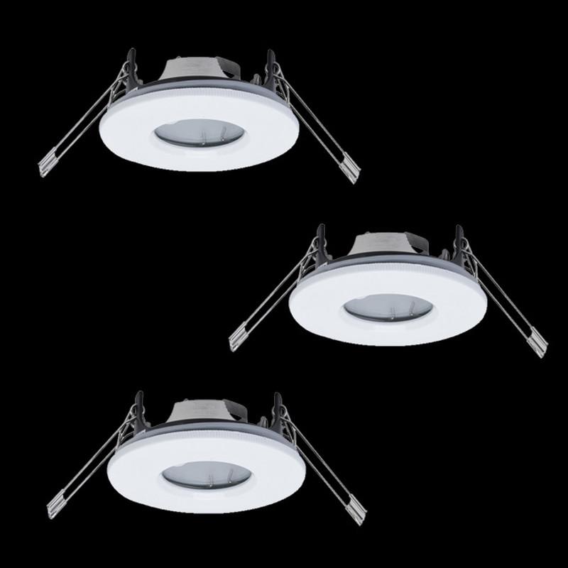 3er Set Badezimmer Dusche Einbauleuchten Weiss Ip65 Wasserdicht Ovf 19 99