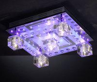 Design LED Deckenleuchte Chrom mit Fernbedienung getrennt...
