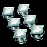 LED Bodeneinbaustrahler für Außen 6er-Set...
