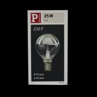 Paulmann 300.20 Glühbirne E14 Tropfen verspiegelt...