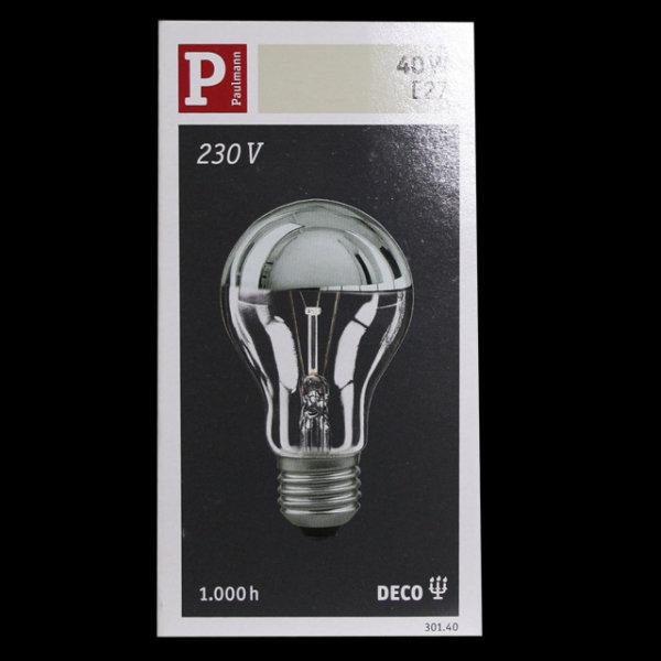 Paulmann 301.40 Glühbirne E27  Glühlampe Kopfspiegel Silber 40W dimmbar