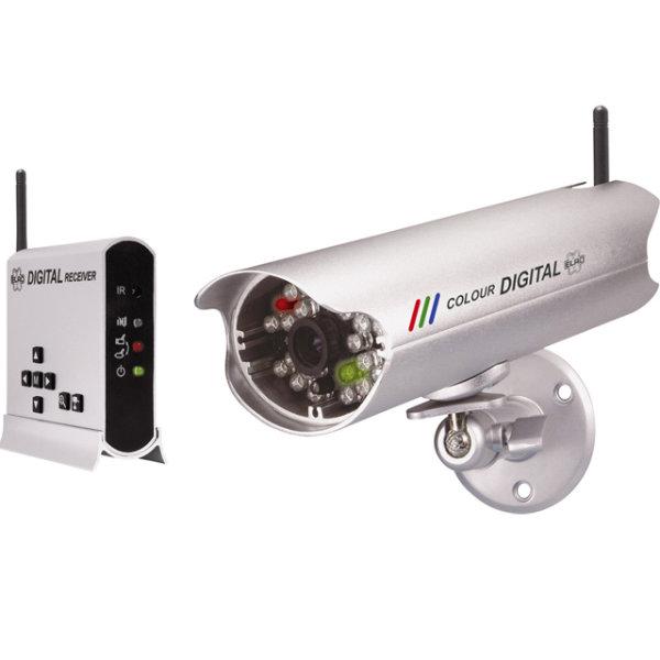 Funk Farbkamera Überwachung Kamera Set IR Nachtsicht ELRO C950D