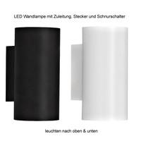 LED Wandspot Up Down mit Stecker Wandlampe oben unten...