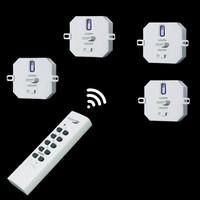 HOME EASY FUNK SET 4 x 1000W Einbauschalter + FB...