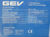 Türsprechanlage Kabelgebunden Komplett-Set GEV...