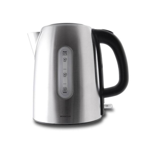 INVENTUM Edelstahl Wasserkocher 1,7 Liter 2200W Teekocher Teekessel Wasserkessel