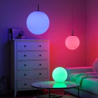 LED Glas Pendelleuchte RGB FARBWECHSEL Kugel Pendellampe...