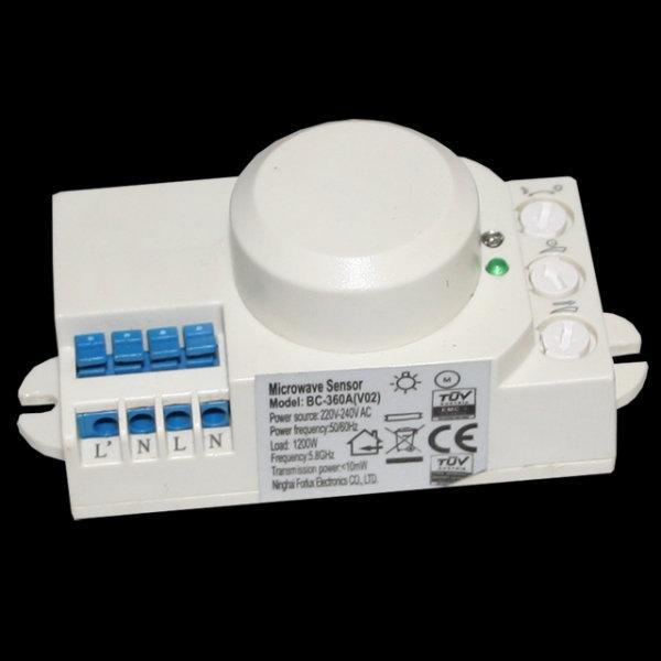 Microwave Cork Mikrowellen Sensor BC-360A(V02) 360° Bewegungsmelder 1200W